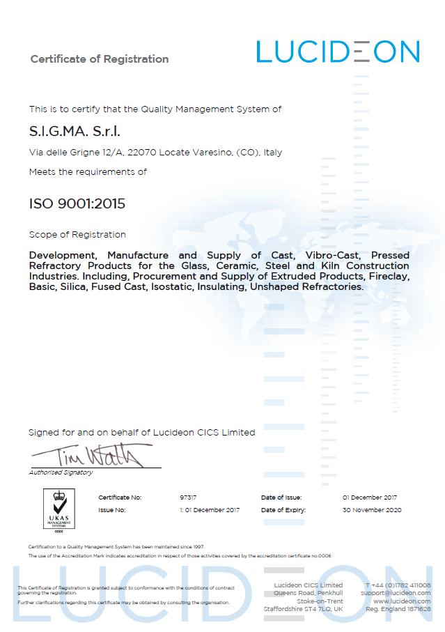 Сертификат ISO 9011
