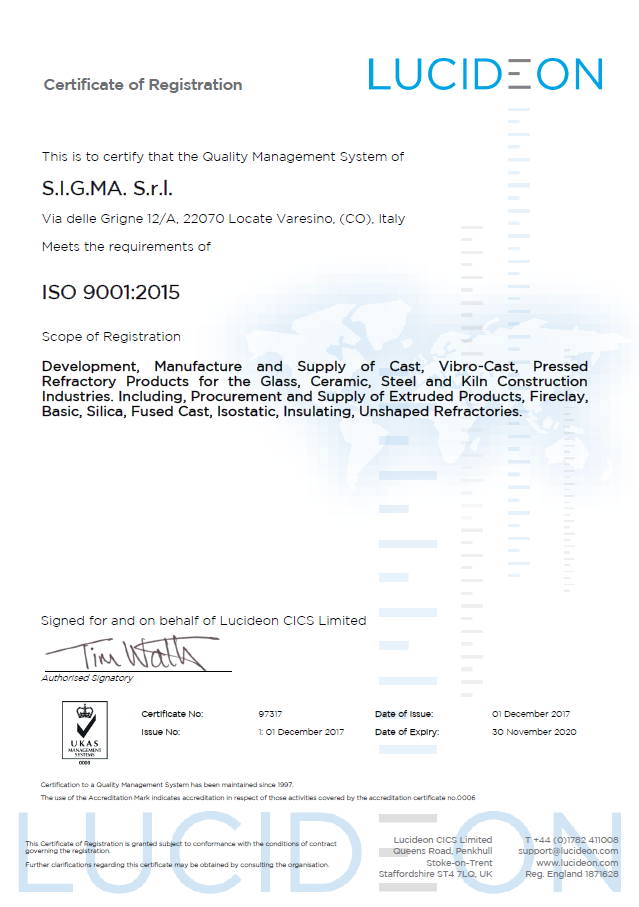 Certificato ISO 9011