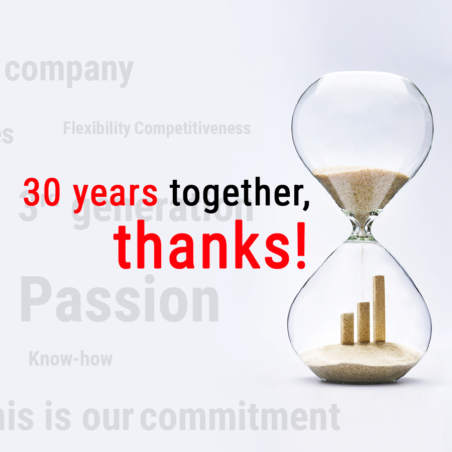 30 years together, thanks!